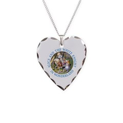 Alice and the White Knight Necklace