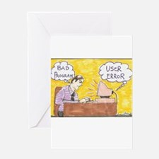 User Error Greeting Cards