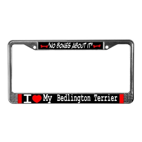 NB_Bedlington Terrier License Plate Frame