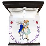 Follow Me - I'll Take You to Wonderland King Duvet