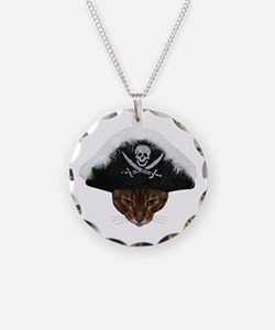 Pirate Bengal Cat Necklace