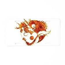 Yin Yang Dragon Fire Aluminum License Plate