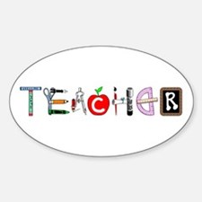 Teacher Oval Decal
