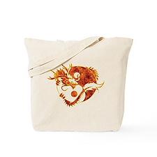 Yin Yang Dragon Fire Tote Bag