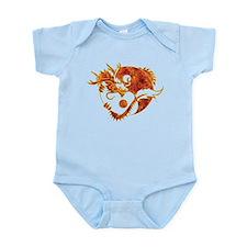 Yin Yang Dragon Fire Infant Bodysuit