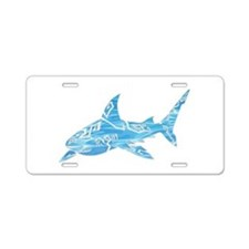 Great White Shark Grey Aluminum License Plate