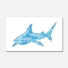 Great White Shark Grey Car Magnet 20 x 12