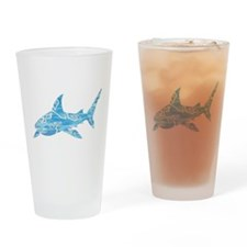 Great White Shark Grey Drinking Glass