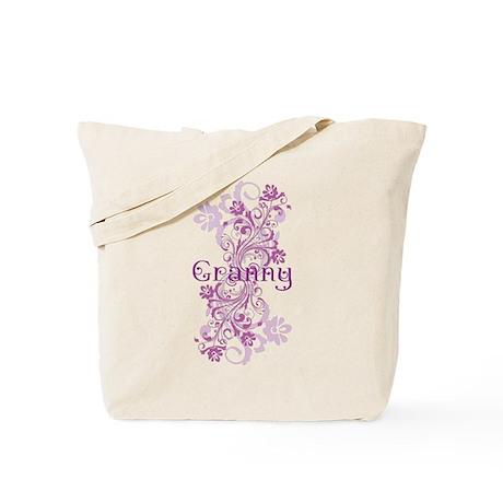 Granny Grandma Flowered Tote Bag