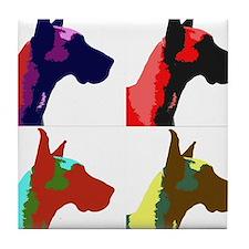 Great Dane Pop Art Tile Coaster