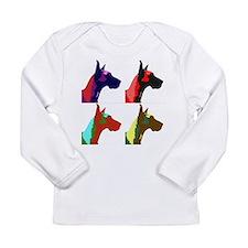 Great Dane Pop Art Long Sleeve Infant T-Shirt