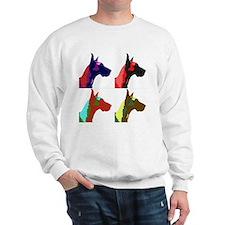 Great Dane a la Warhol Sweatshirt