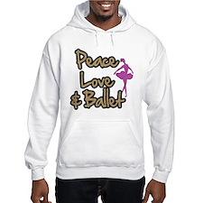 Peace Love & Ballet Hoodie