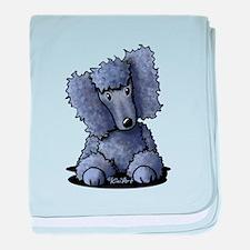Blue Poodle baby blanket