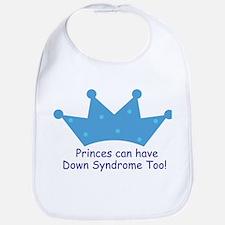 Down Syndrome Prince Baby Bib