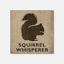 "Vintage Squirrel Whisperer Square Sticker 3"" x 3"""
