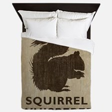 Vintage Squirrel Whisperer Queen Duvet