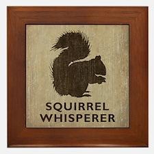 Vintage Squirrel Whisperer Framed Tile
