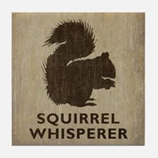 Vintage Squirrel Whisperer Tile Coaster