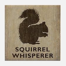 Vintage Squirrel Whisperer Tile Coaster