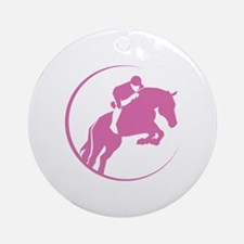 Horse Jumping Ornament (Round)
