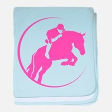 Horse Jumping baby blanket