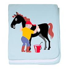 Horse baby blanket