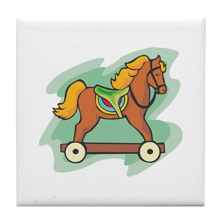 Horse Toy Tile Coaster