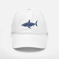 Vintage Shark Baseball Baseball Cap