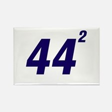 Obama 44 Squared Rectangle Magnet