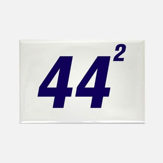 Obama 44 Squared Rectangle Magnet