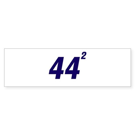 Obama 44 Squared Sticker (Bumper)