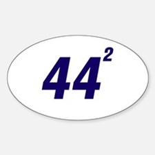 Obama 44 Squared Decal