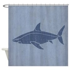 Vintage Shark Shower Curtain