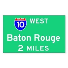 Baton Rouge Exit Sign Rectangle Decal