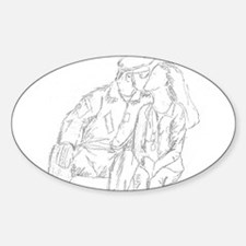 """""""The Long Kiss Goodbye"""" Oval Decal"""