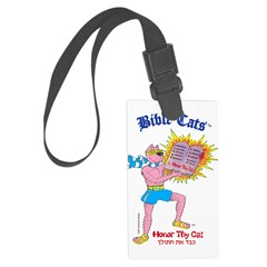 BIBLE CATS Luggage Tag