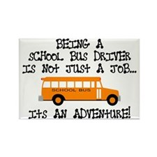 Being A School Bus Driver... Rectangle Magnet (10