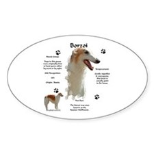 Borzoi 1 Oval Decal