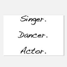 Singer. Dancer. Actor. Postcards (Package of 8)