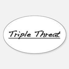 Triple Threat Oval Decal