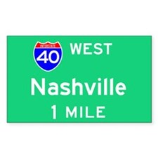 Nashville Exit Sign Rectangle Decal