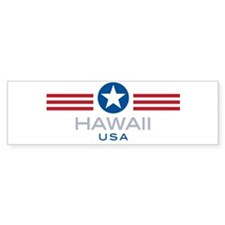 Hawaii-Star Stripes: Bumper Bumper Stickers