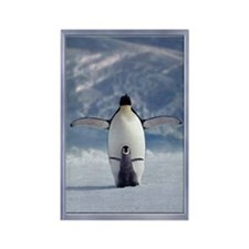 Penguin Love Rectangle Magnet