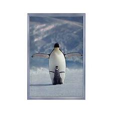 Penguin Love Rectangle Magnet