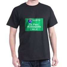 St. Paul Minneapolis Exit Sig Black T-Shirt