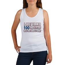 100 birthday designs Women's Tank Top