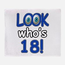 Look who's 18 Throw Blanket