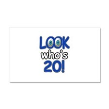 Look who's 20 Car Magnet 20 x 12