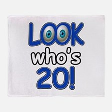 Look who's 20 Throw Blanket